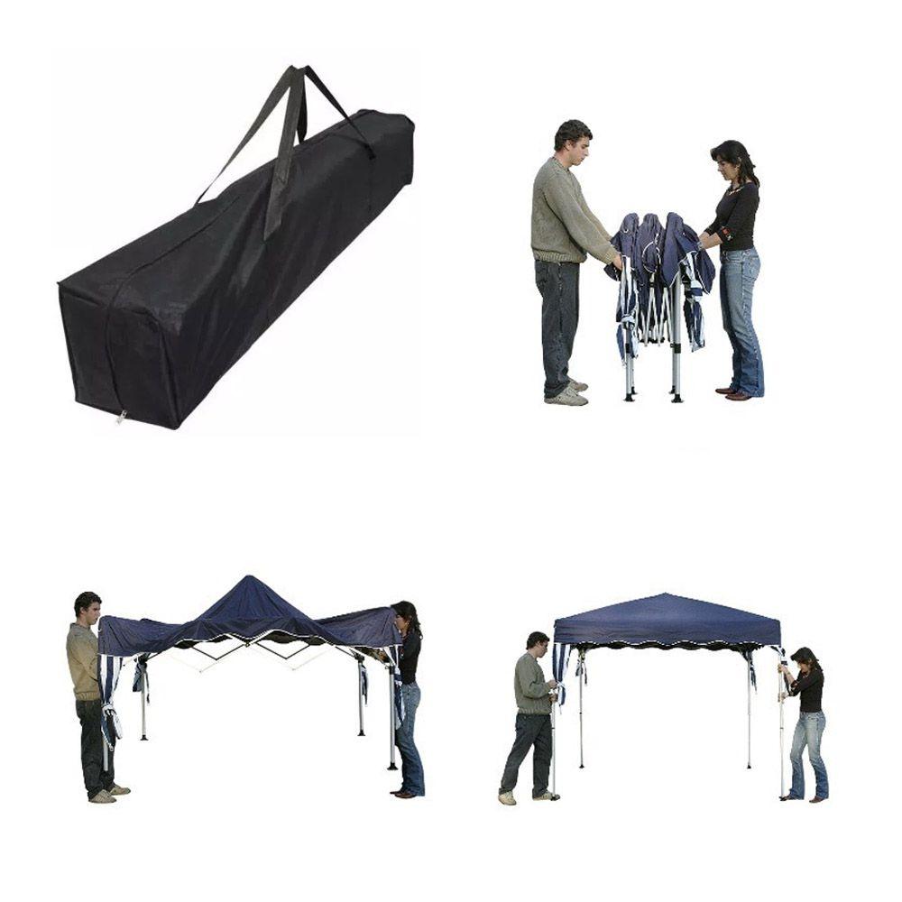 Tenda Gazebo 3x3m Articulado Importway Bordô IWGZA3BO