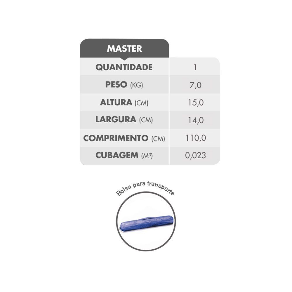 Tenda Gazebo 3x3 metros Montável Importway - COR: BRANCA
