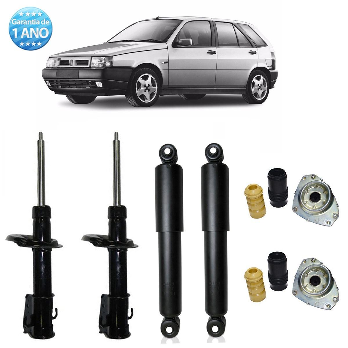 04 Amortecedores Remanufaturados Fiat Tipo 1993 Até 1997 + Kit da Suspensão