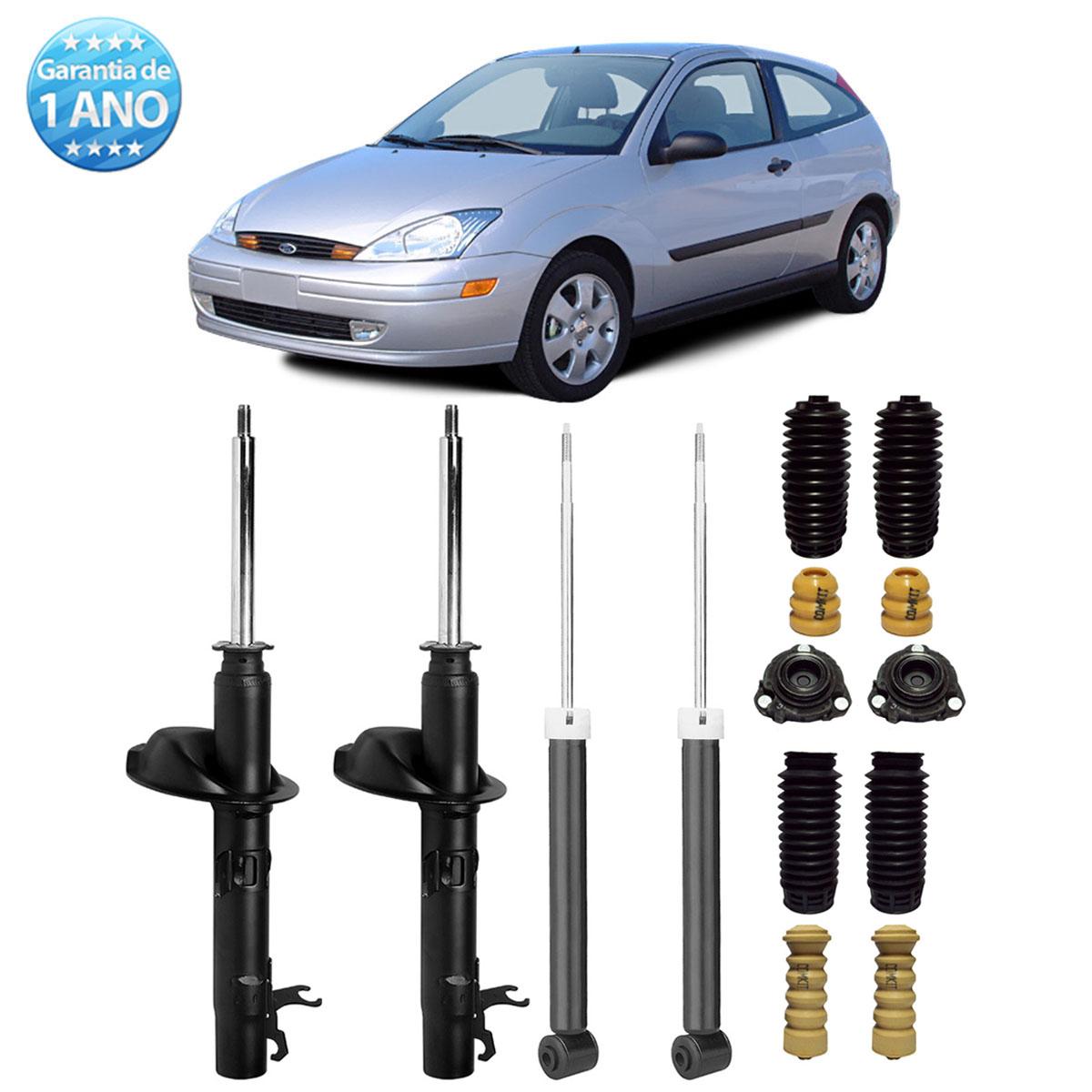 04 Amortecedores Remanufaturados Ford Focus 2000 Até 2008 + Kit da Suspensão