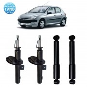 04 Amortecedores Remanufaturados Peugeot 206 1999 Até 2010 e Peugeot 207 2006 Até 2012