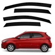 Calha de Chuva Defletor Fumê Ka Novo Hatch Sedan 2014 até 2020 4 Portas