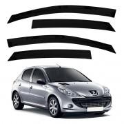 Calha de Chuva Defletor Fumê Peugeot 206 207 Todos 4 Portas