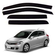 Calha de Chuva EcoFlex Nissan Tiida Hatch 2007 Até 2016 4 Portas