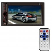Central Multimídia FirstOption 2 Din 6.2 Polegadas DVD USB SD TV GPS AUX MP4 VCR Bluetooth