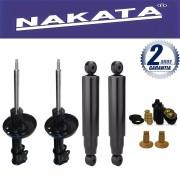 Jogo 04 Amortecedores  Nakata Astra Hatch e Sedan 1999 até 2012 + Kit Suspensão