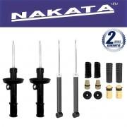 Jogo 04 Amortecedores Nakata Cobalt 2012 Até 2015 Kit da Suspensão