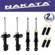 Jogo 04 Amortecedores Nakata Corolla e Fielder 2002 Até 2008 + Kit da Suspensão