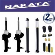 Jogo 04 Amortecedores Nakata Ecosport 4x2 2003 Até 2013 + Kit da Suspensão