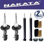 Jogo 04 Amortecedores Nakata Fox Polo 2003 Até 2013 + Kit da Suspensão