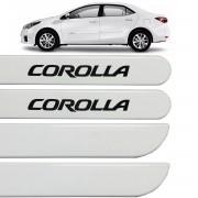 Jogo Friso Lateral Corolla 2009 até 2013 Branco Polar