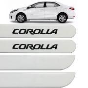 Jogo Friso Lateral Corolla 2015 Até 2019 Branco Perola