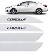 Jogo Friso Lateral Corolla Grafia Cromada 2015 Até 2019 Branco Perola