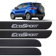 Jogo Friso Lateral Ecosport 2013 Até 2018 Preto Fosco