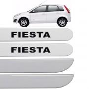 Jogo Friso Lateral Fiesta Rocam 2003 até 2013 Branco Artico
