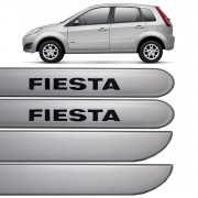 Jogo Friso Lateral Fiesta Rocam 2003 até 2013 Prata Enseada