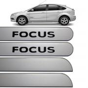 Jogo Friso Lateral Ford Focus 2009 até 2013 Prata Enseada