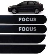 Jogo Friso Lateral Ford Focus 2009 até 2013 Preto Ebony