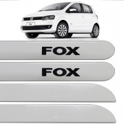 Jogo Friso Lateral Fox 04 Portas 2003 até 2016 Branco Cristal