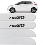 Jogo Friso Lateral HB20 Hatch 2013 até 2017 Branco Polar