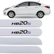 Jogo Friso Lateral HB20S 2013 até 2020 Branco Polar