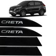 Jogo Friso Lateral Hyundai Creta 2017 Até 2018 Preto Onix