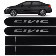 Jogo Friso Lateral New Civic 2012 até 2017 Preto Cristal