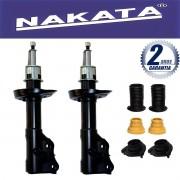 Par de Amortecedores Dianteiro Nakata New Civic 2006 Até 2011 + Kit da Suspensão