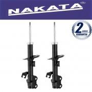 Par de Amortecedores Dianteiro Nakata Nissan Tiida 2007 Até 2015