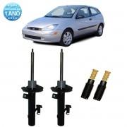 Par de Amortecedores Dianteiro Remanufaturados Ford Focus 2000 Até 2008 + Kit da Suspensão
