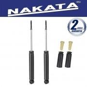 Par de Amortecedores Traseiro Nakata Renault Clio Hatch e Sedan 2000 Até 2012 + Kit da Suspensão