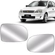 Par Lente Retrovisor Corsa Hatch e Sedan 2003 Até 2015 Montana 2003 Até 2015 Com Base