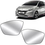 Par Lente Retrovisor Peugeot 208 2012 Até 2018 Peugeot 2008 2015 Até 2018 Com Base