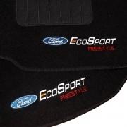 Tapete Carpete Personalizado Logo Bordada Ecosport Freestyle 2003 Até 2012