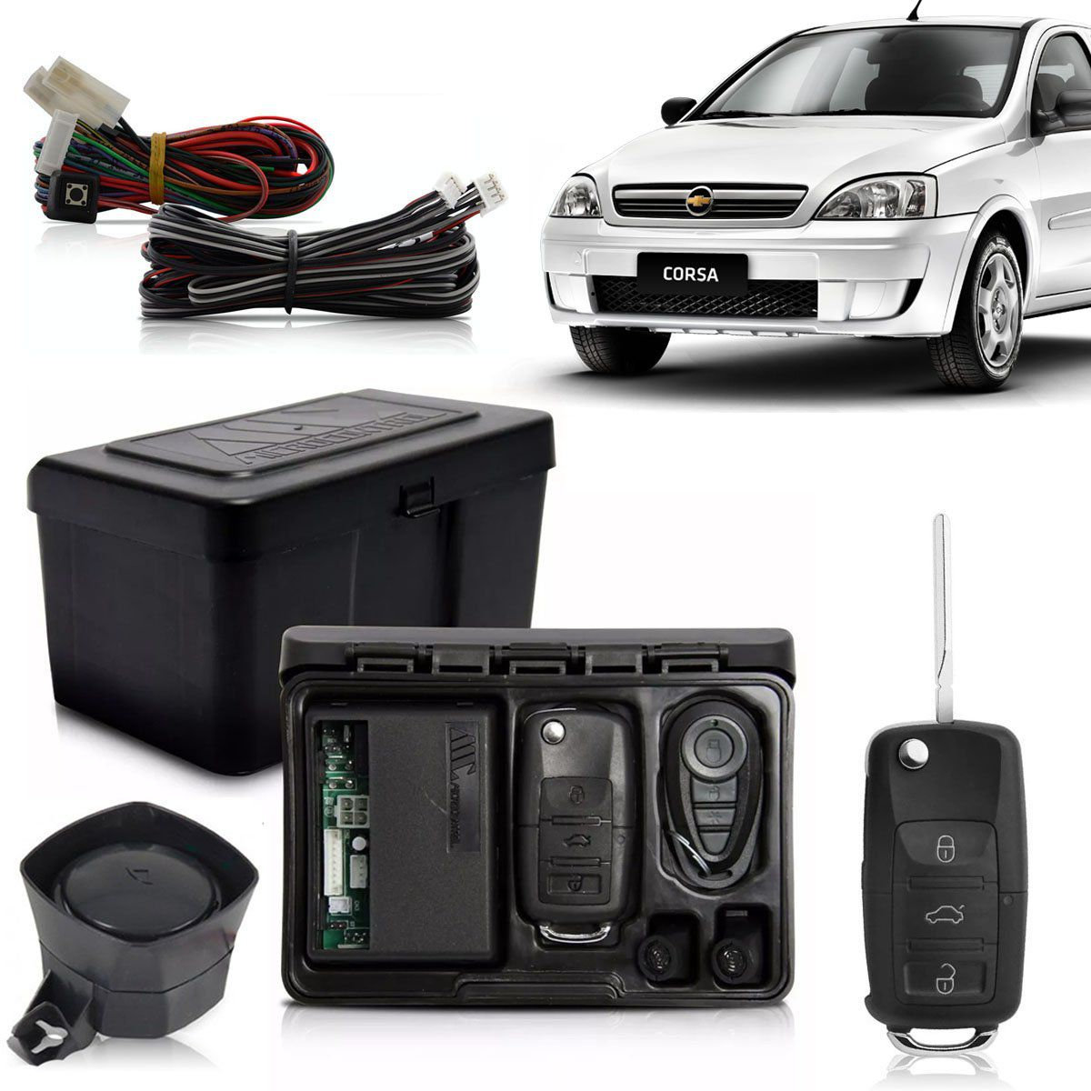 Alarme Automotivo Bloqueador Anti-furto Chave Canivete Corsa Sedan 2003 Até 2015