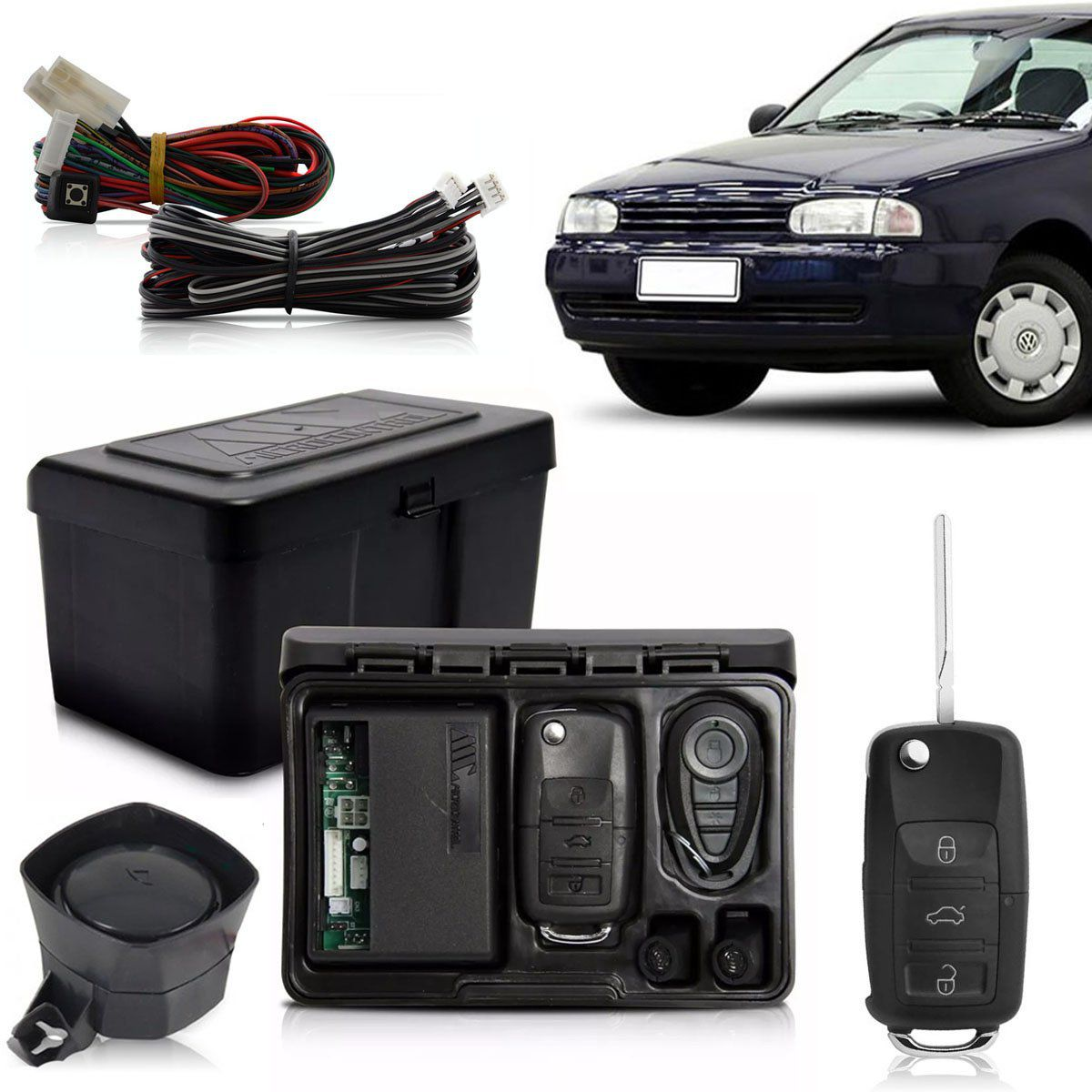Alarme Automotivo Bloqueador Anti-furto Chave Canivete Gol Bola 1994 Até 2003