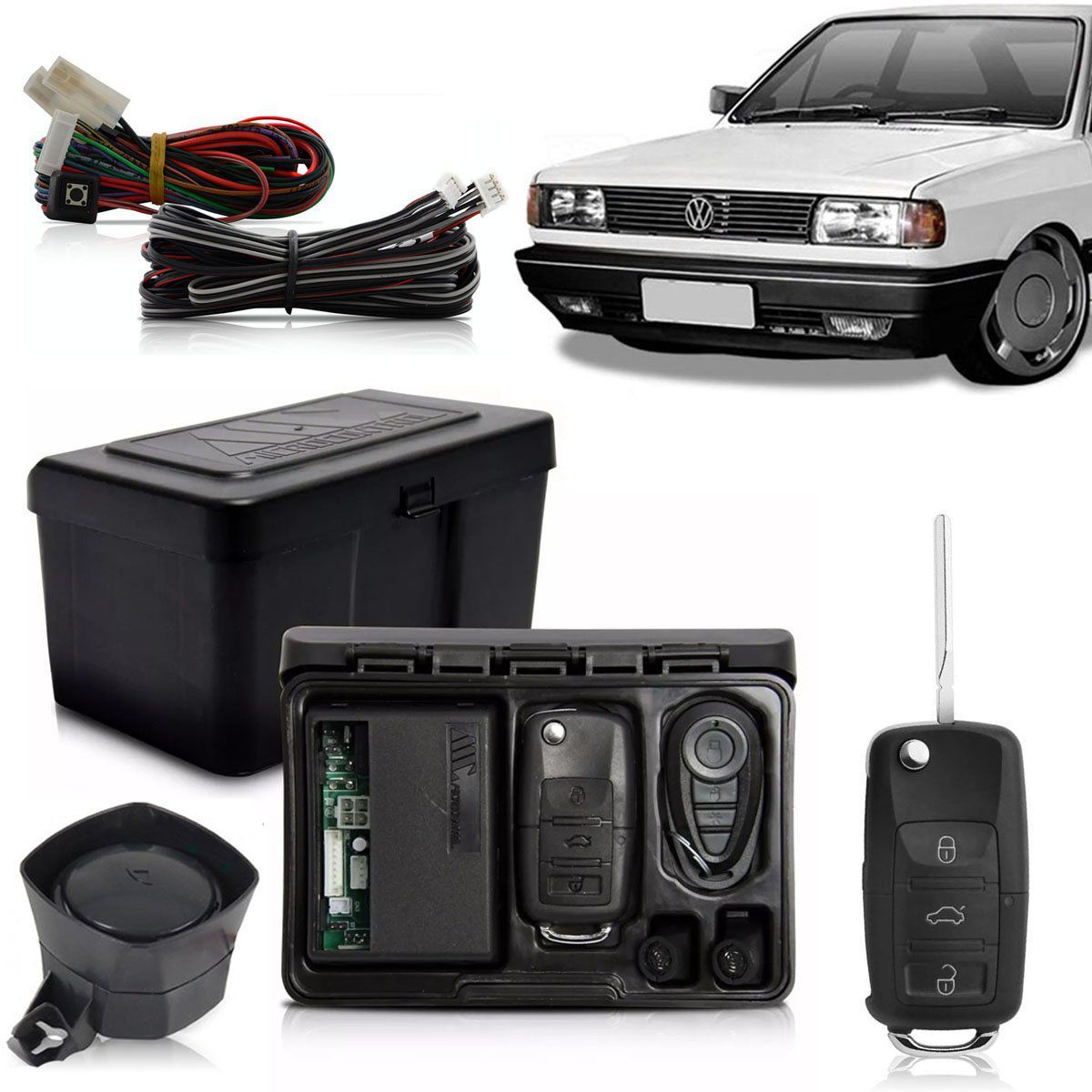 Alarme Automotivo Bloqueador Anti-furto Chave Canivete Gol Quadrado 1980 Até 1994