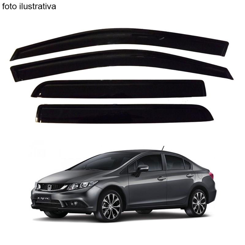 Calha de Chuva Defletor Fumê Civic 2012 até 2015 4 Portas