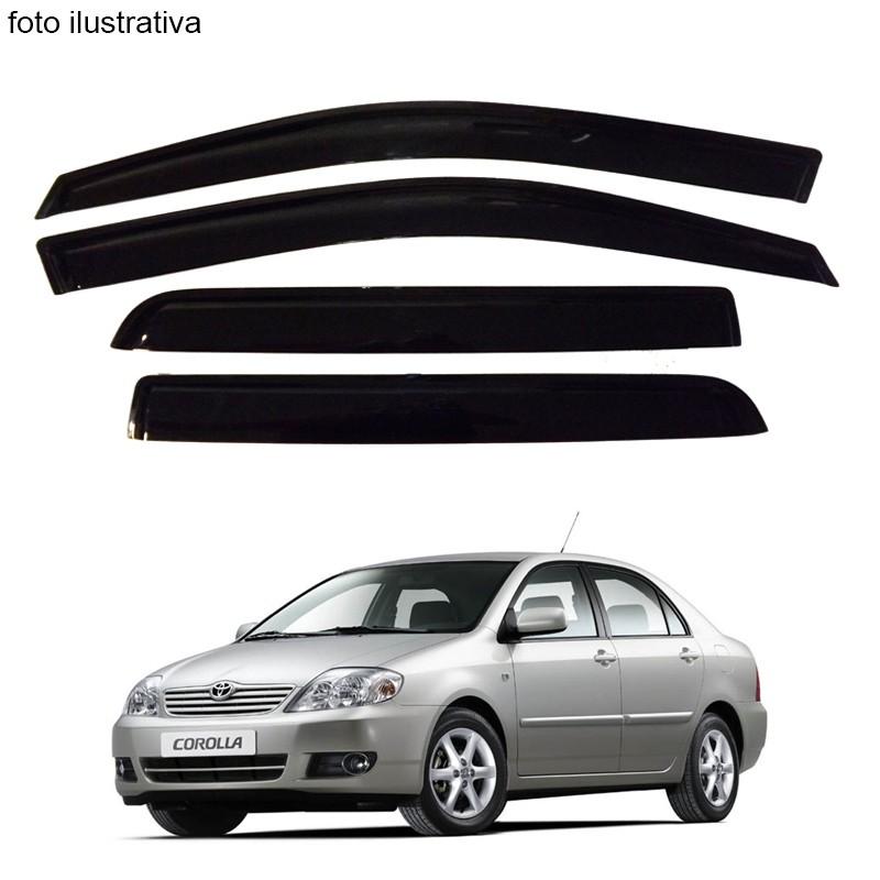 Calha de Chuva Defletor Fumê Corolla Sedan 2003 até 2007 4 Portas