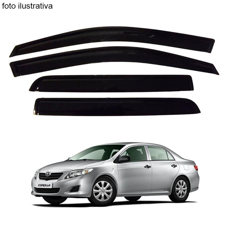 Calha de Chuva Defletor Fumê Corolla Sedan 2008 até 2014 4 Portas