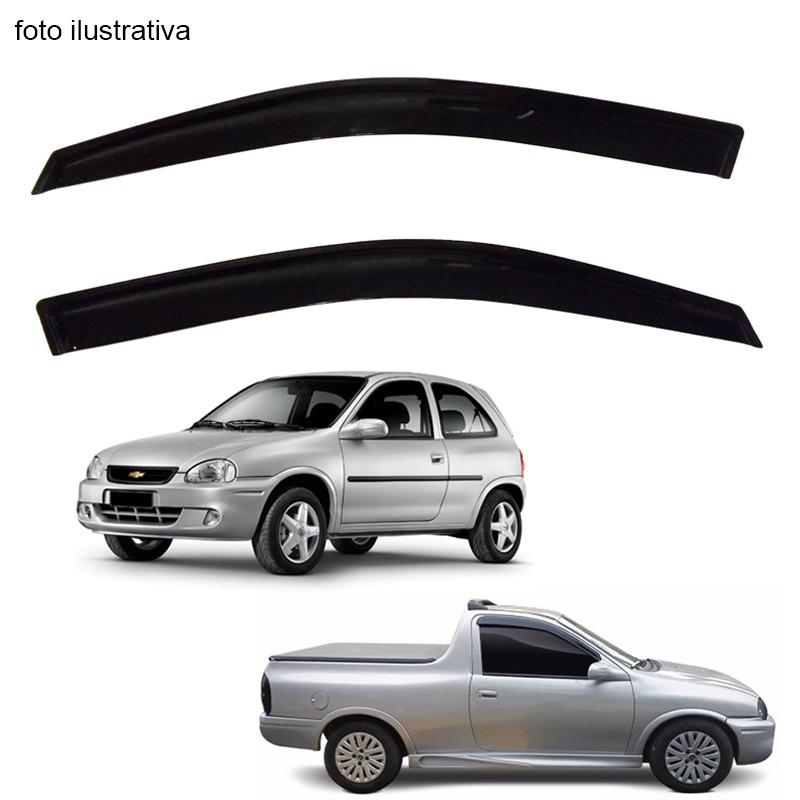 Calha de Chuva Defletor Fumê Corsa Hatch Pick Up Corsa 1994 até 2001 2 Portas