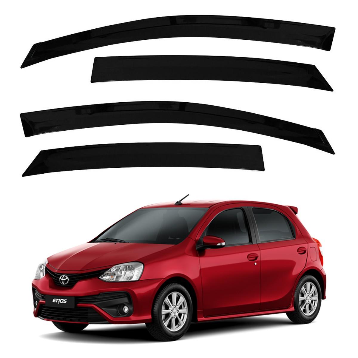 Calha de Chuva Defletor Fumê Etios Hatch e Sedan 2012 até 2018 4 Portas