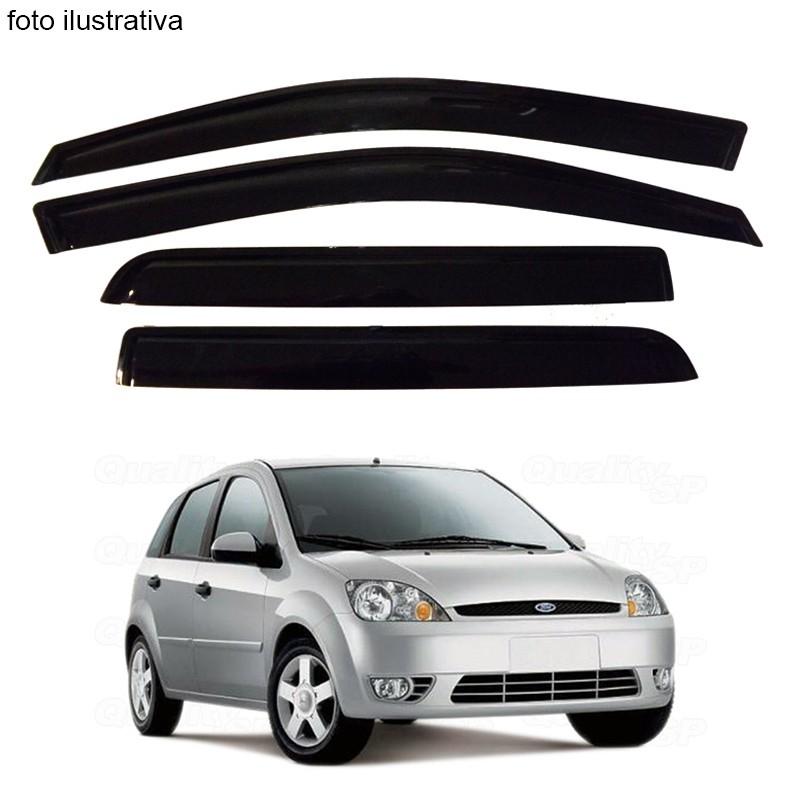 Calha de Chuva Defletor Fumê Fiesta Amazon 2002 até 2011 4 Portas