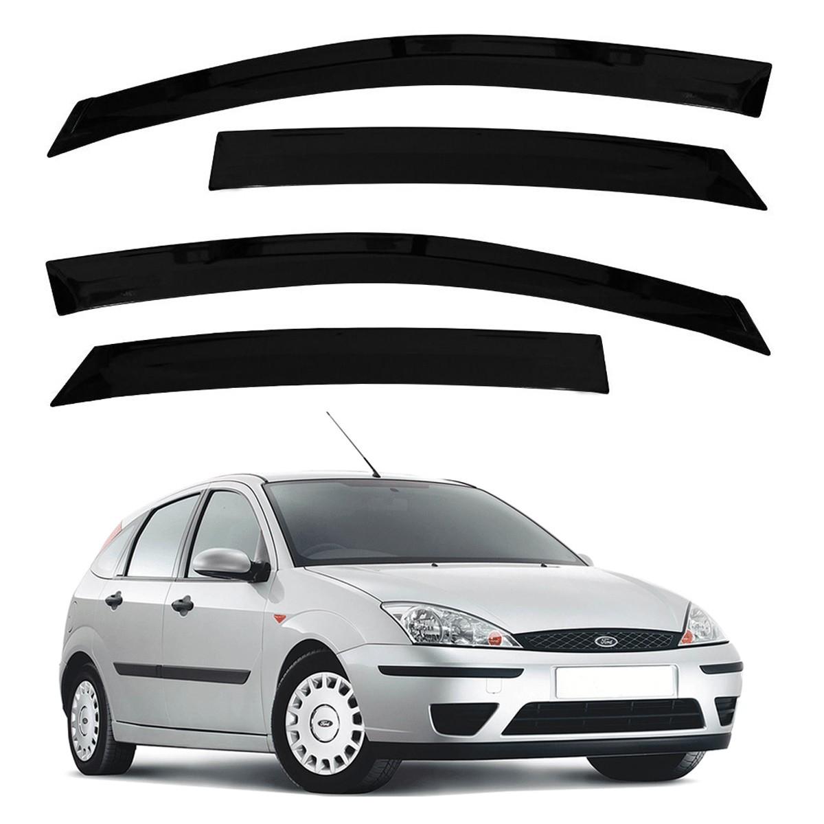 Calha de Chuva Defletor Fumê Focus Hatch e Sedan 2001 até 2009 4 Portas