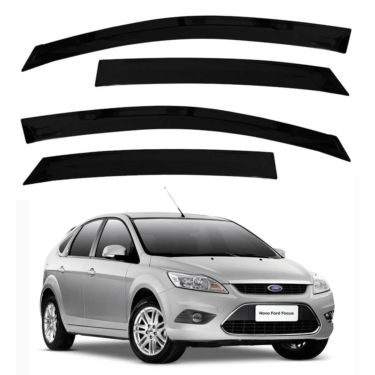 Calha de Chuva Defletor Fumê Focus Hatch e Sedan 2009 até 2013 4 Portas