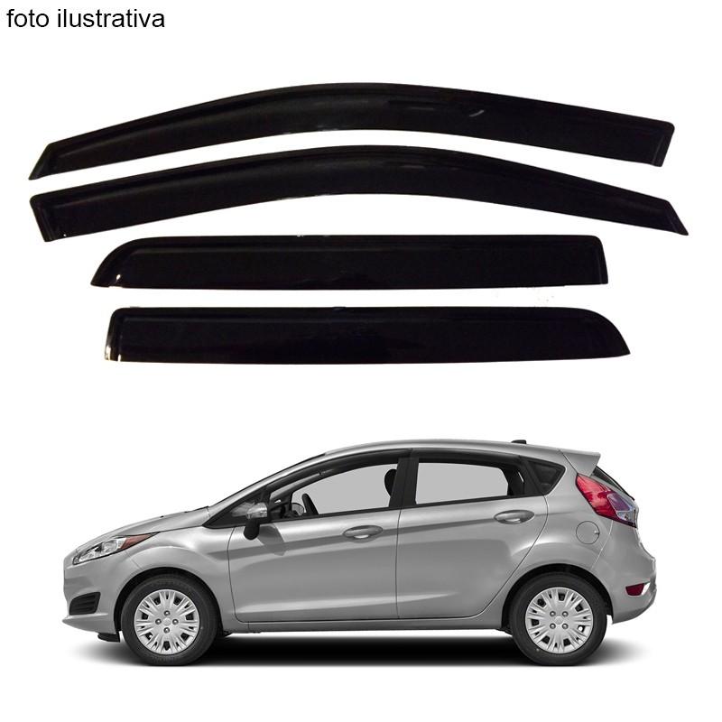Calha de Chuva Defletor Fumê New Fiesta Hatch 2011 até 2015 4 Portas