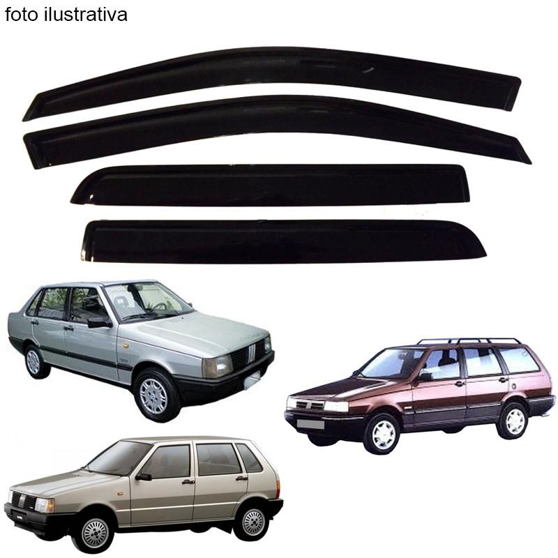 Calha de Chuva Defletor Fumê Uno Prêmio Elba 1984 até 2004 04 Portas (Exceto Fire)