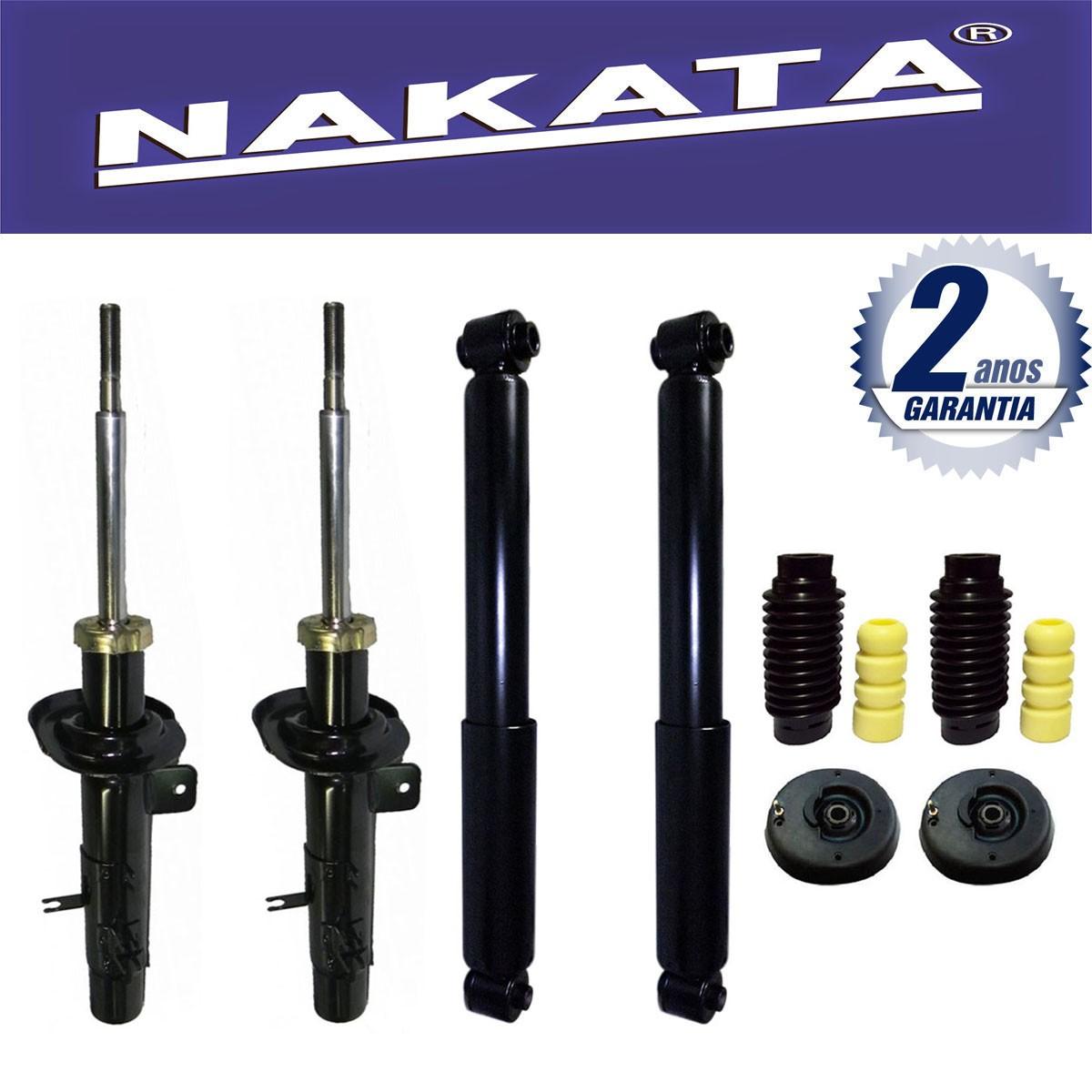 Jogo 04 Amortecedores Nakata Citroen C3 2003 Até 2012 + Kit da Suspensão