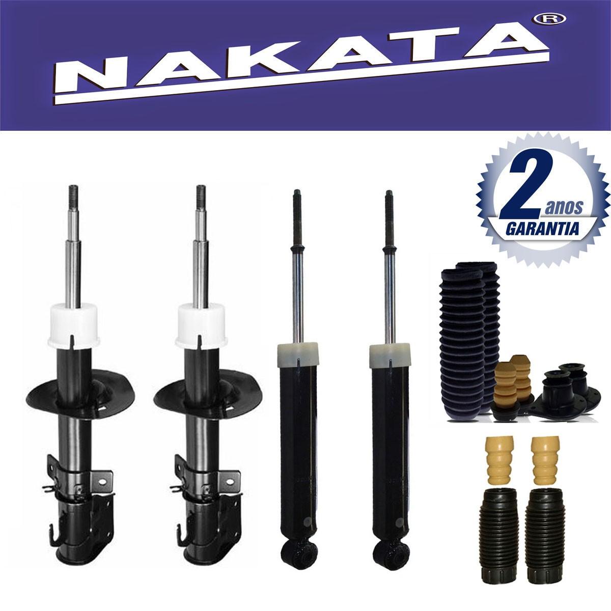 Jogo 04 Amortecedores Nakata Fiat Idea 2006 Até 2015 + Kit da Suspensão