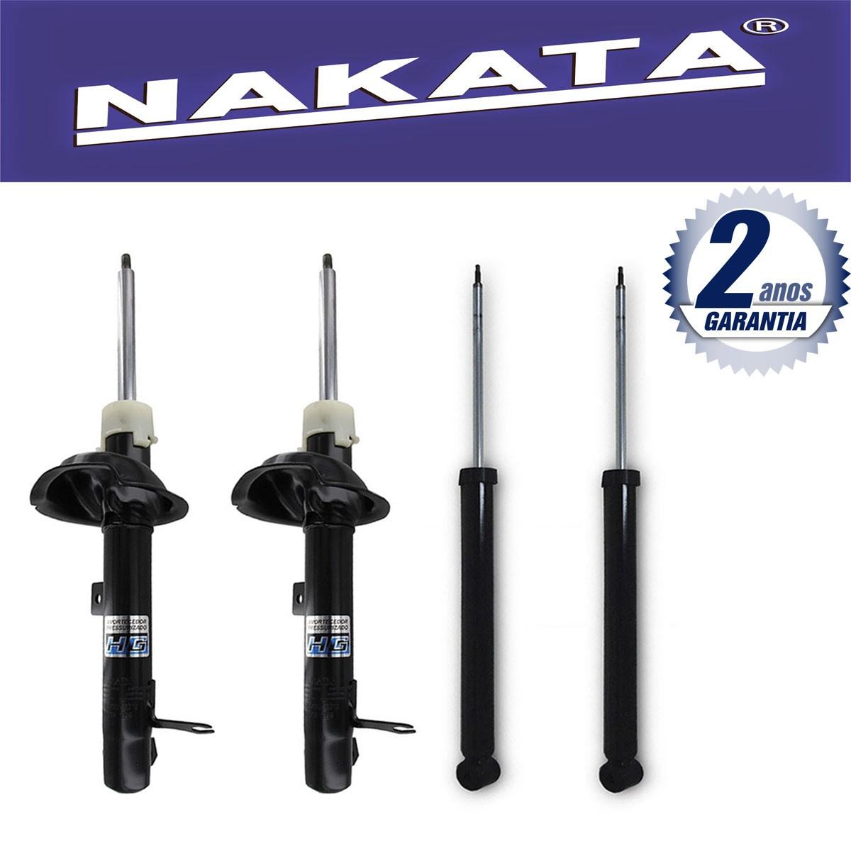 Jogo 04 Amortecedores Nakata Ford Focus Hatch e Sedan 2000 Até 2008